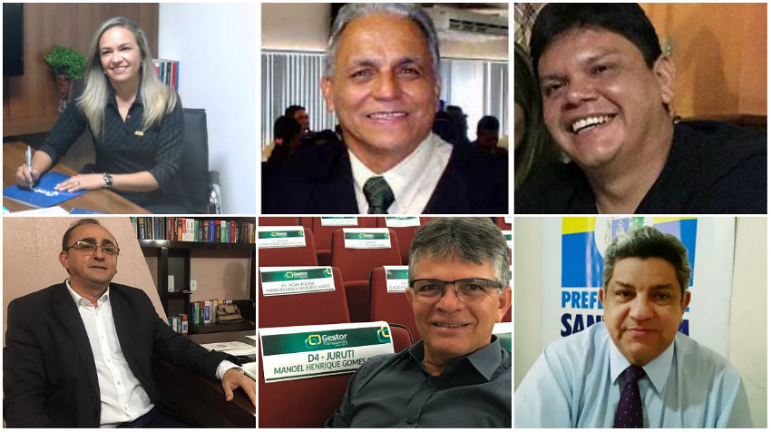 Holofotes em 6 VIPs. Joelson, Pastana, Eliane, Pixica, Isaac e Henrique, Palanque - Canto, Pastane, Joelson...