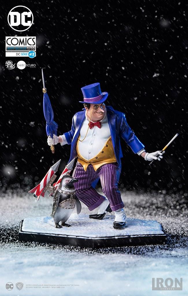完美詮釋企鵝人過度華麗的穿搭風格~ Iron Studios DC Comics【企鵝人 豪華版】Penguin Deluxe by Ivan Reis 1/10 比例雕像作品
