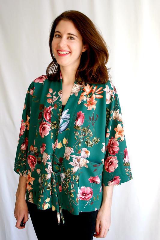 floral kochi kimono