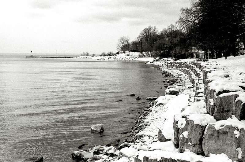 Snow Covered Shoreline