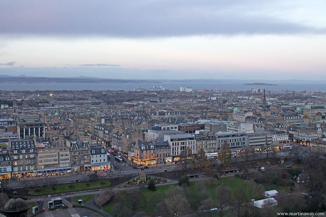 La New Town vista dal Castello di Edimburgo