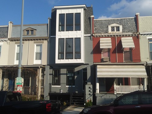 Weird pop up rowhouse, 13th Street NW, Columbia Heights