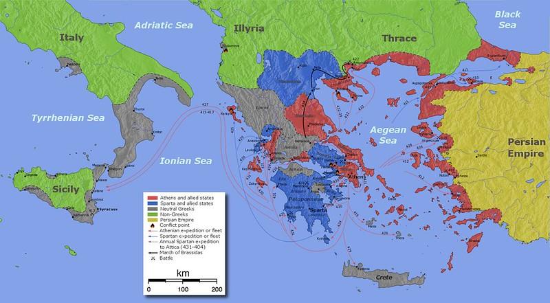 Map of the Peloponnesian War