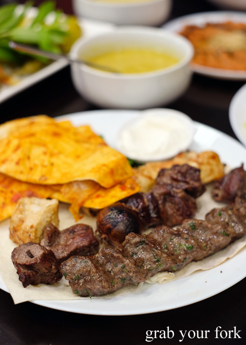 Mix plate skewers at Al Shami in Merrylands