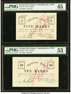German New Guinea Australian Occupation notes