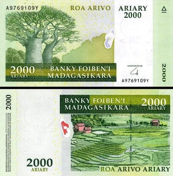 2000 Ariary Madagaskar 2006-9, P90