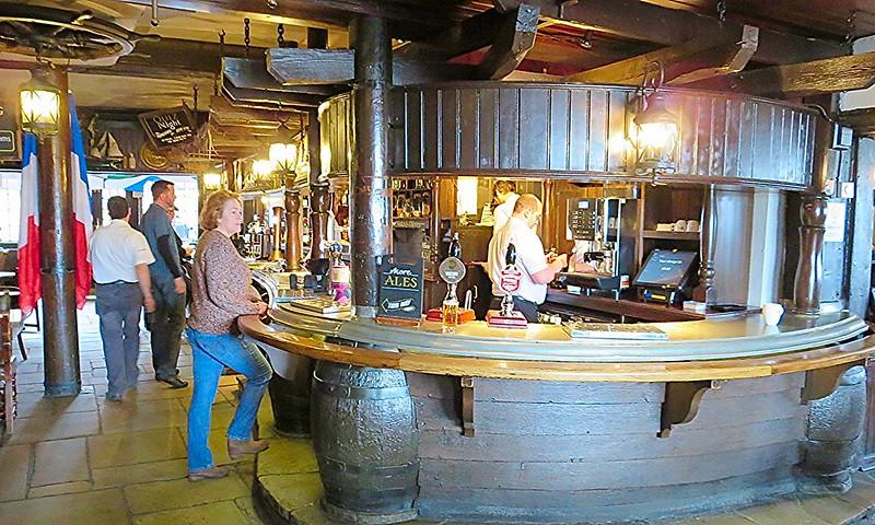 Historic London pub on the Thames