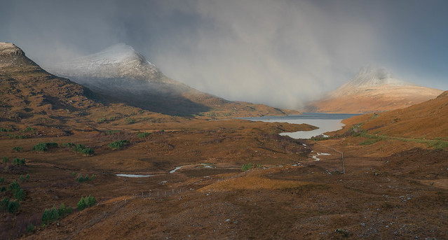 Snow Flurries Over Coigach ..