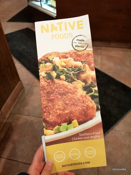 Natives Food Café menu cover