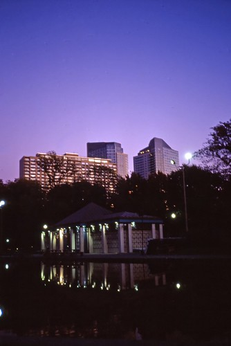 Frog Pond at Twilight, Boston Common - 2001 (2)