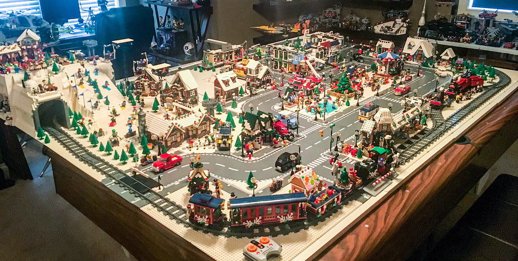 Yet Another Beautiful Lego Winter Village Display All