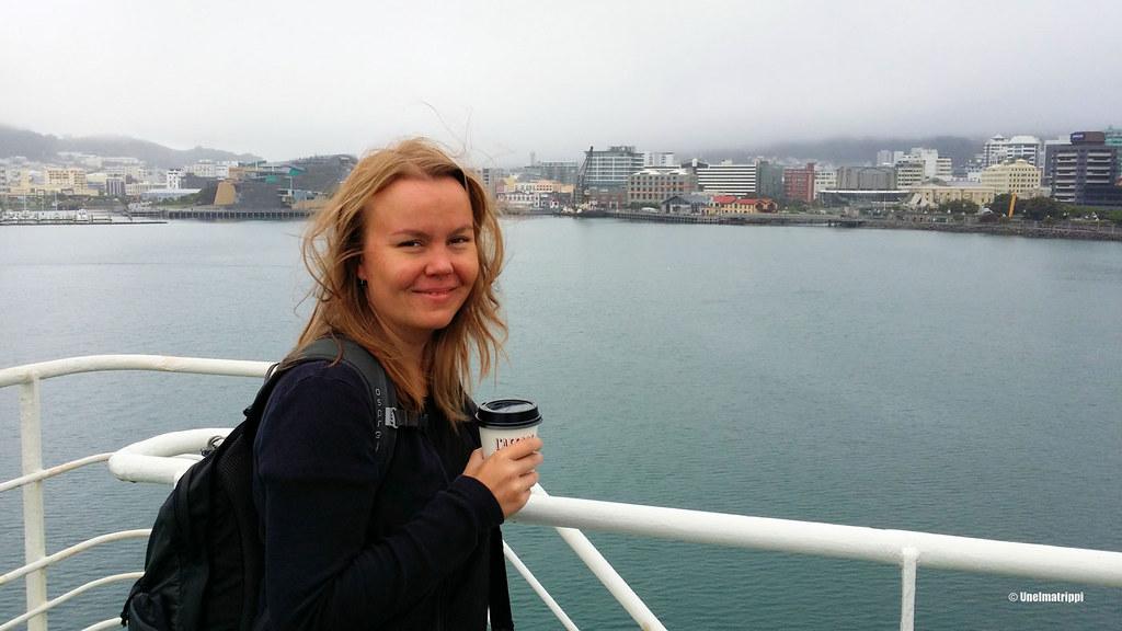 Jenni Bluebridgen lautalla Wellingtonista Pictoniin, Uusi-Seelanti