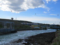 View of Whitehorse Dam spillway in the middle of June - part 2