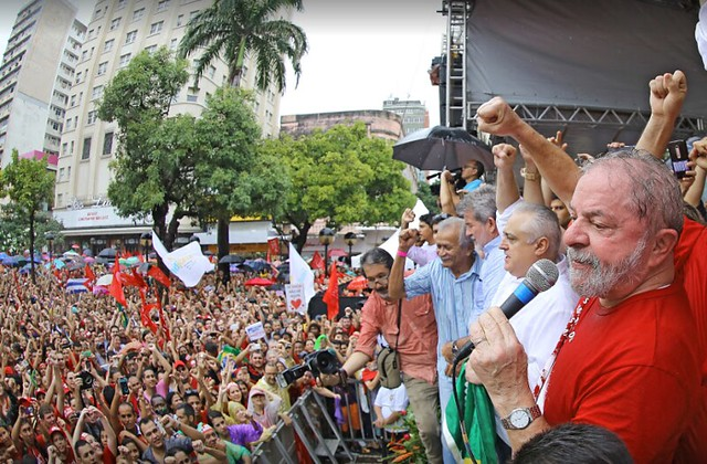 Lula in a political act in the city of São Paulo this year - Créditos: Ricardo Stuckert/Instituto Lula