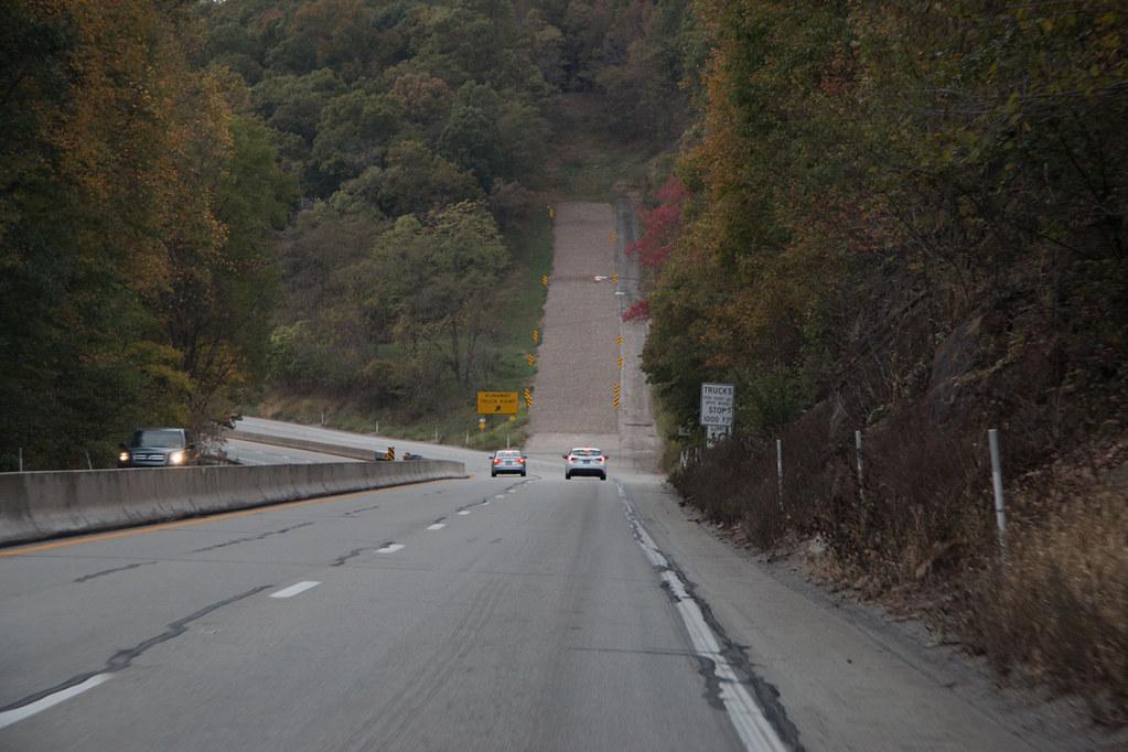 Steep roads in Laurel Highlands