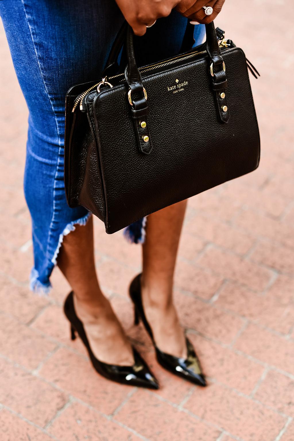 how to style a Kate spade handbag