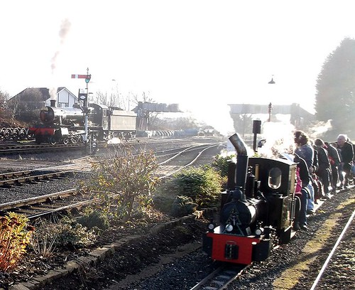 Little and large steam trains