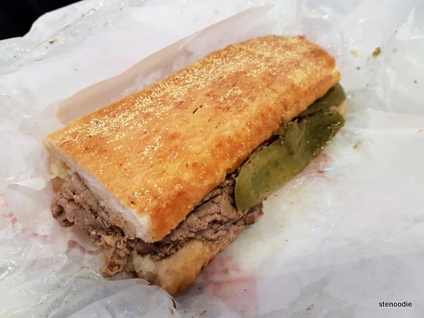 Dipped Italian Beef Sandwich