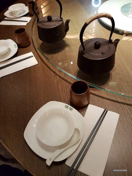 Green Tea Restaurant cutlery
