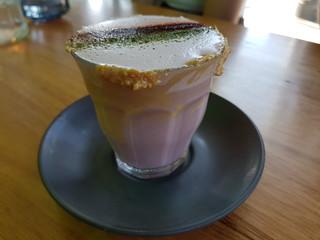 Purple Peanut Butter Latte at Matcha Mylkbar