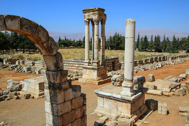 Ruins of the Umayyad city of Anjar (عنجر), Lebanon (Unesco World heritage)