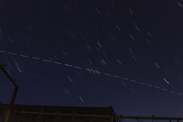 Startrails e ISS