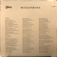 THE BEATLES:BEATLES FOR SALE(INNER 1)