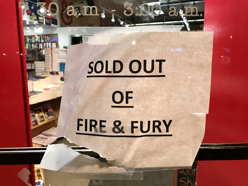 Sold out of Fire and Fury at Kramerbooks