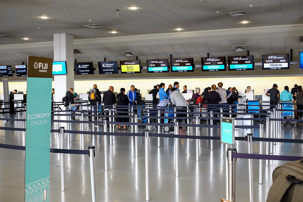Fiji Airways check-in counters