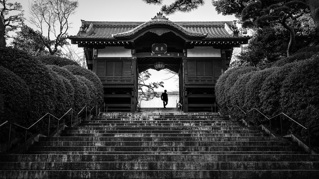 Blessed tokyo japan black and white street photography