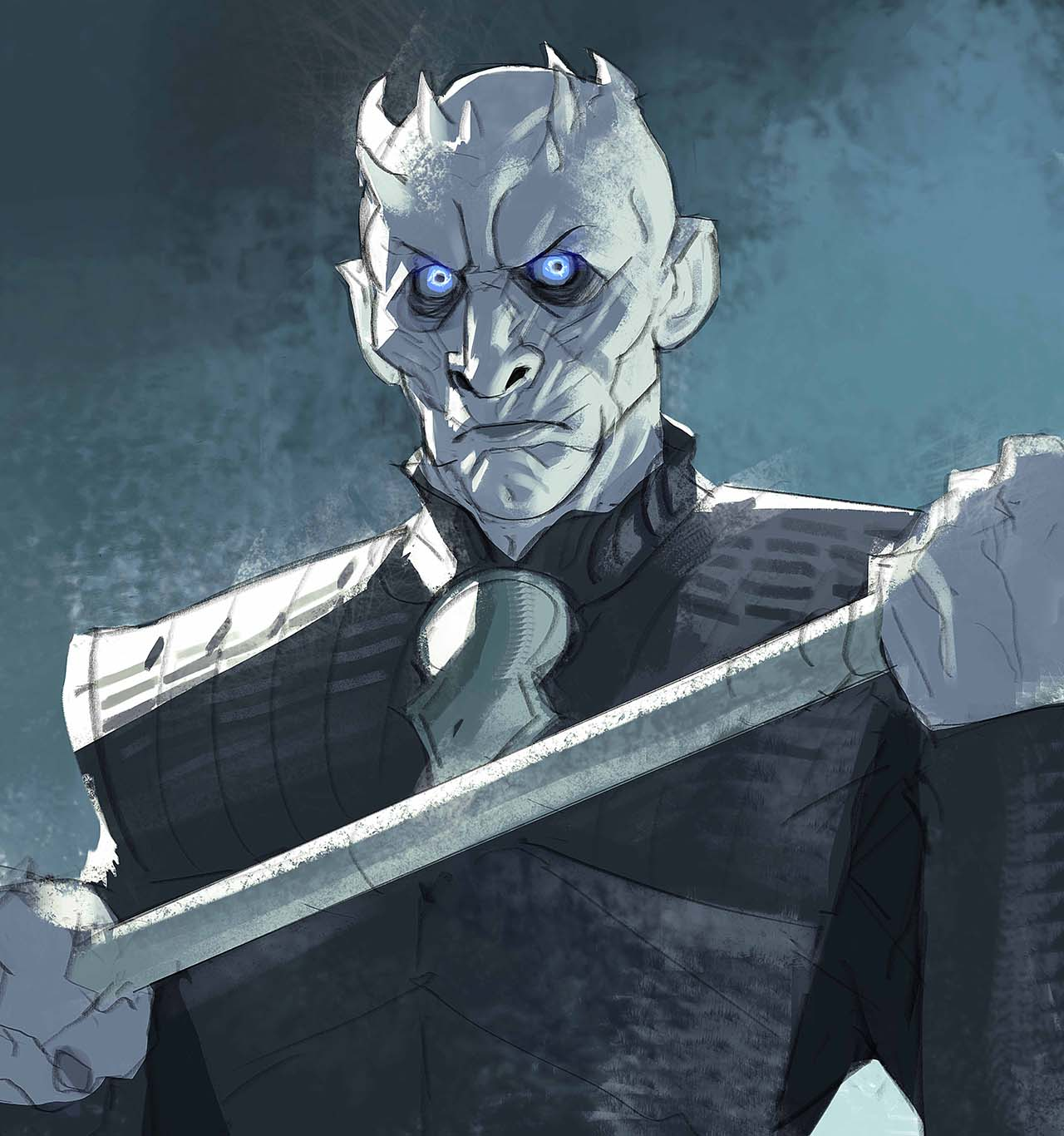 Artist Creates Unique Character Arts From Game Of Thrones – The Night King Character Art By Ramón Nuñez