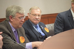 Reps. Simanski and Storms at the Arc Connecticut I/DD Caucus