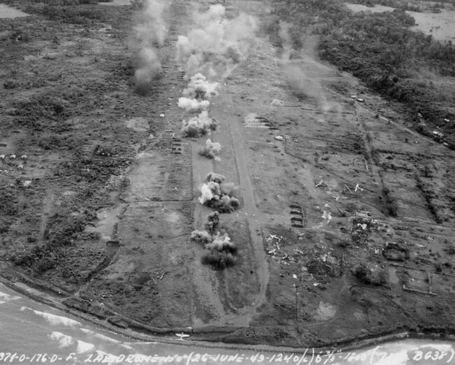 Striking Lae on June 26 1943