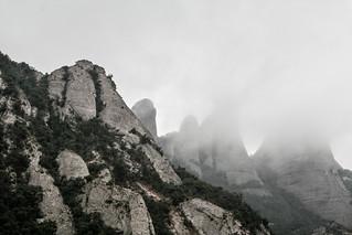 Montserrat in Fog 8/31/09 #catalonia