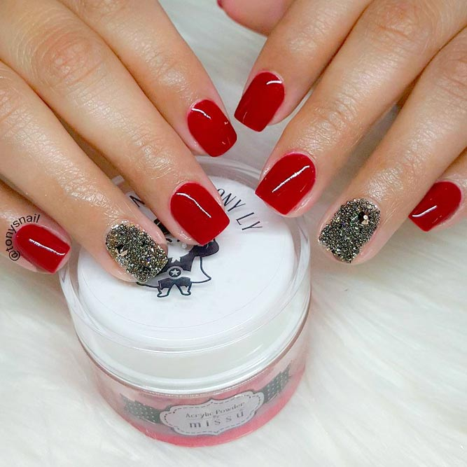 21 ideas of beautiful red nail designs nails c red and white nail designs prinsesfo Gallery