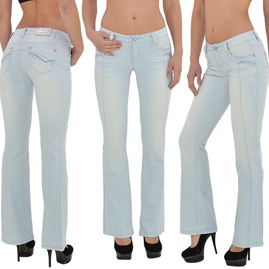 damen jeans hose bootcut damen jeanshose damenjeans schlaghose marlene j170 ebay. Black Bedroom Furniture Sets. Home Design Ideas