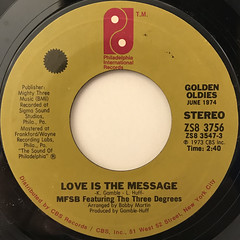 MFSB:LOVE IS THE MESSAGE(LABEL SIDE-A)