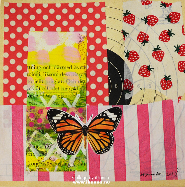 Butterfly Collage Week: 365 Collages in 2018 Week 3 Strawberry Butterfly by iHanna #365somethings2018 #collage #art