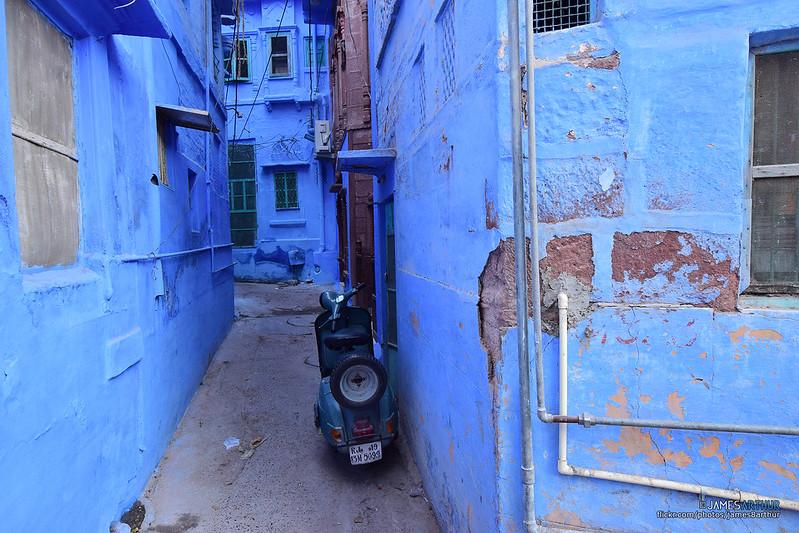 Blue houses..