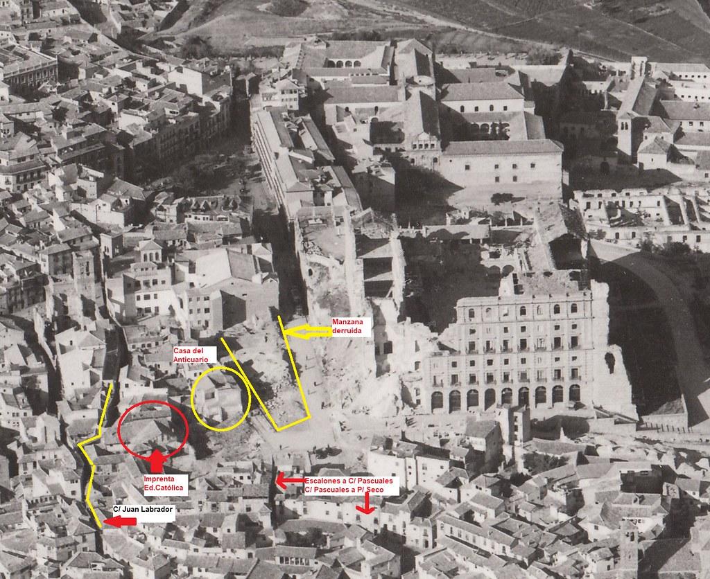 Entorno del Alcázar después de 1936, hacia 1950. Explicación de Rafael del Cerro.