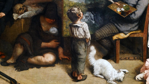 Courbet,_The_Studio,_detail_with_child_and_Irish_mother