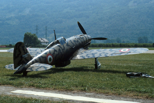 Macchi MC.205 Veltro at the 1986 Sion Air Show