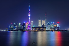 The Futuristic Shanghai Tron Skyline