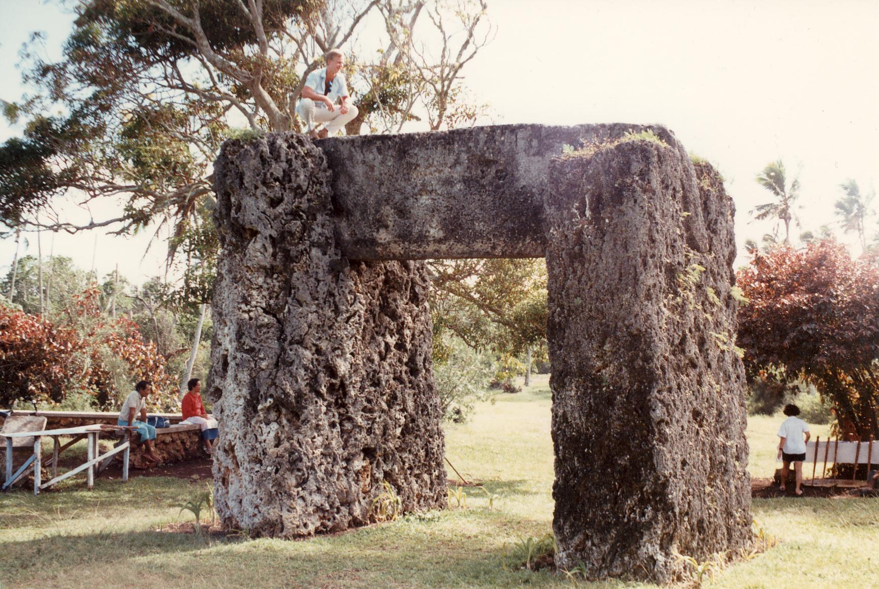 Haʻamonga ʻa Maui (Burden of Maui) is a stone trilithon located in Tonga, on the north of the island of Tongatapu, near the village of Niutōua, in Heketā.