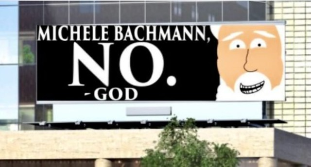 Bachmann looking for a sign from God
