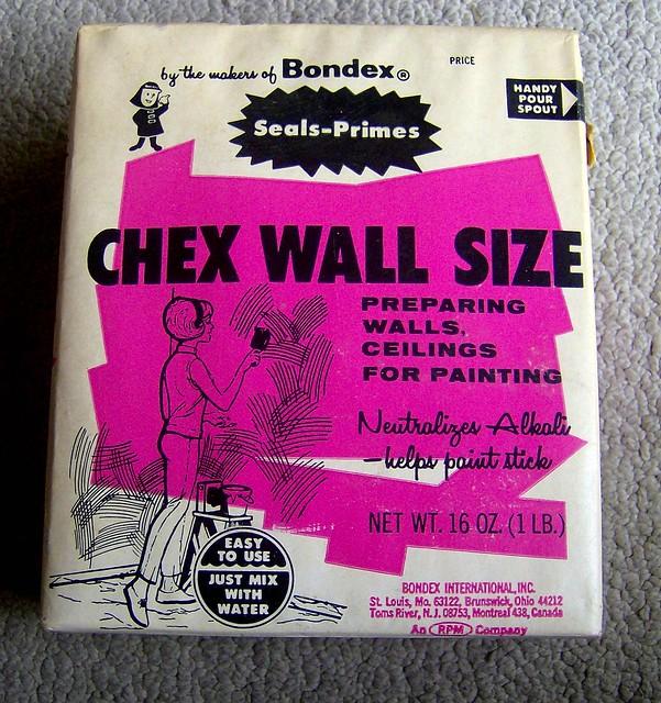 1960s Bondex Chex Wall Size box w/groovy graphics