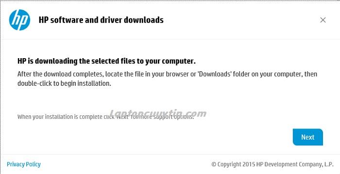 cach cai driver cho laptop hp