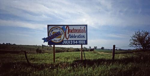 Diagonal, Iowa, 1988 Centennial - Ektachrome - 1991