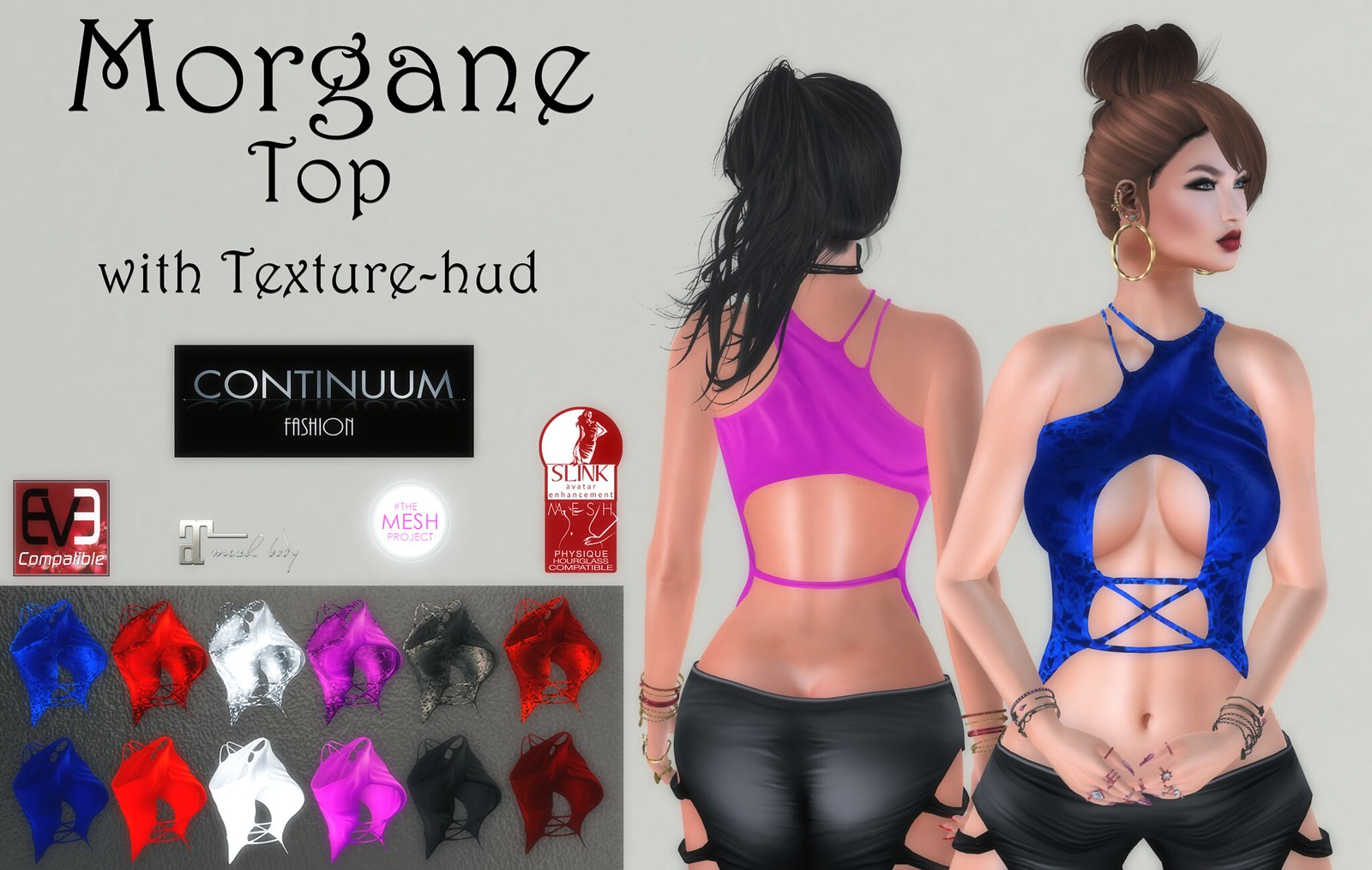 New! Continuum Fashion Morgane Top