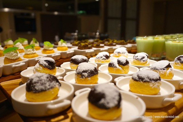 Desserts at Hilton Kota Kinabalu Executive Lounge